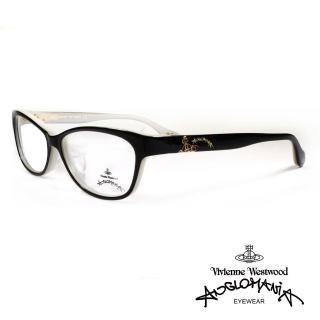 【Vivienne Westwood】英國薇薇安魏斯伍德高雅系列光學眼鏡(黑/米 AN303 01)