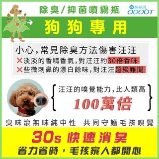 【ODOUT 臭味滾】狗狗專用 除臭/抑菌噴霧瓶200ml(除臭噴霧)