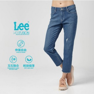 【Lee】Lee 中腰標準合身小直筒牛仔褲/DC-401-中藍色洗水(中藍色洗水)