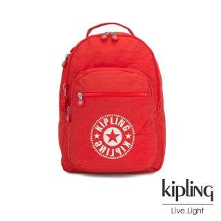 【KIPLING】致敬經典復古暖陽紅後背包-CLAS SEOUL