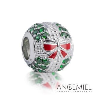 【Angemiel 安婕米】925純銀珠飾 串珠 快樂禮物盒