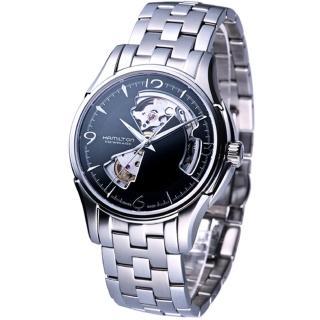 【HAMILTON 漢米爾頓】JazzMaster 經典鏤空機械錶(H32565135)