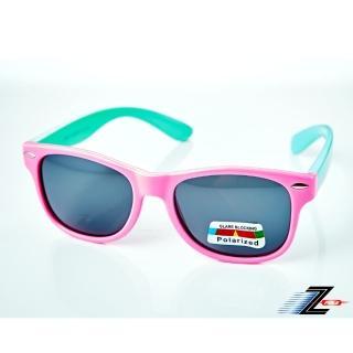 【Z-POLS】兒童專用矽膠軟質彈性壓不壞 Polarized寶麗來偏光太陽眼鏡S14(鉚釘設計款 鏡片偏光抗紫外線)