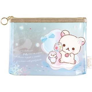 【San-X】懶妹的珍珠貝殼海系列透明化妝包(拉拉熊)