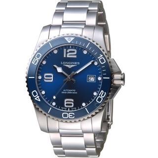 【LONGINES 浪琴】征服者系列陶瓷潛水機械錶(L37814966)