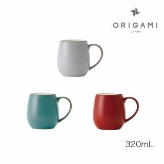 【ORIGAMI】日本摺紙咖啡Barrel Aroma 陶瓷馬克杯320ml  復古3色