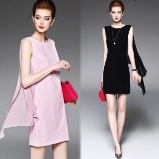 【KEITH-WILL】歐美時尚名媛蕾絲露背氣質洋裝(共2色)