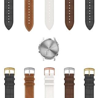 【GARMIN】vivomove HR 時尚智慧腕錶 我型我配-皮革款