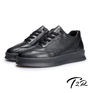 【T2R】正韓空運-簡約厚底內增高8公分休閒男鞋-黑(5985-1845)