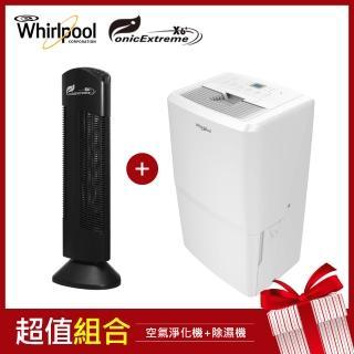 【Ionic Extreme X 惠而浦】家用除PM2.5空氣淨化機X6 PLUS+一級能效16L除濕機WDEE30AW(黑色)