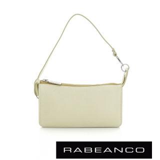 【RABEANCO】頂級牛皮多層手拿包長夾(淡黃)