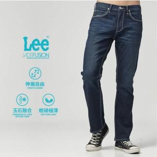 【Lee】Lee 中腰舒適直筒牛仔褲/DC深藍色洗水(深藍色)