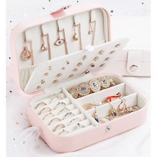 【梨花HaNA】閃粉典雅女孩臥室旅行飾品收納盒/珠寶箱
