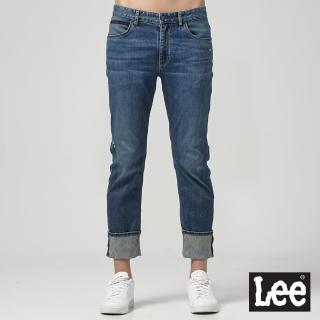 【Lee】726 中腰標準直筒 男牛仔褲(中藍色洗水)