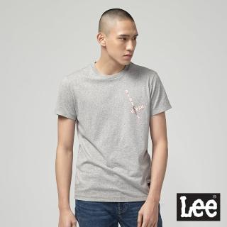 【Lee】胸前印花 男短袖T恤-灰(灰)