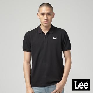 【Lee】Lee 短袖小LOGOPOLO衫/RG-黑(黑)