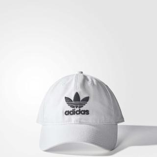 【adidas 愛迪達】帽子 Trefoil Cap 經典 男女款 愛迪達 老帽 三葉草 可調式 運動休閒 白 黑(BR9720)