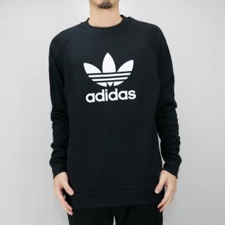 【ADIDAS】TREFOIL CREW  黑 男 圓領套頭衫(CW1235)