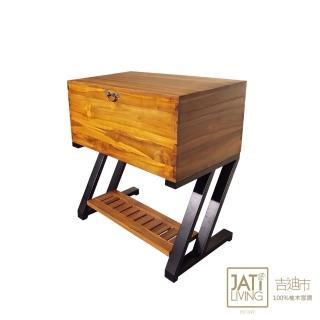 【吉迪市柚木家具】實木高鐵腳造型海盜箱