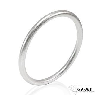【JA-ME】999千足銀古法製銀簡約圓骨手鐲(原銀色)/
