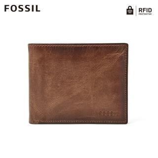 【FOSSIL】Derrick 棕色真皮RFID皮夾證件套 男 ML3771200