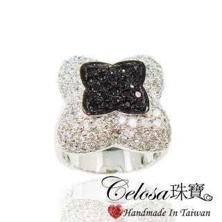 【Celosa】浪漫晶鑽戒指(黑鑽色系)