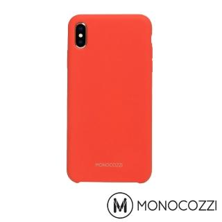 【MONOCOZZI】Gritty SoftTouch iPhone XS Max 液態矽膠防污保護殼(紅色)