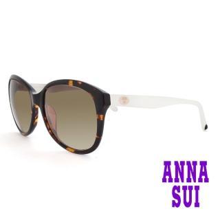 【ANNA SUI 安娜蘇】安娜優雅系列太陽眼鏡(AS809-113-琥珀)
