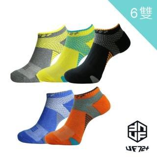 【UF72+】除臭輕壓足弓氣墊運動襪6入組UF912男女襪(除臭/氣墊襪/機能襪)