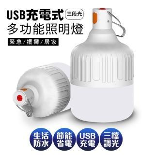 【新一代】智能USB充電懸掛式LED照明燈泡40W(17*10cm)
