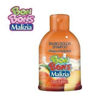 【Malizia 瑪莉吉亞】棒棒糖香氛 2合1 洗髮沐浴露 - 蜜桃拿鐵 500ml(香氛沐浴2合1)