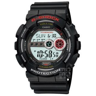 【CASIO 卡西歐】卡西歐G-SHOCK 電子錶-黑(GD-100-1A)