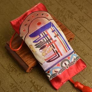 【林真邑】西藏刺繡時輪金剛藏藥香包吊飾(車掛)