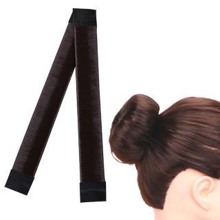 【kiret】海綿寶寶假髮圈包頭/丸子頭 盤髮器-自然黑 贈橡皮筋髮圈(啪啪圈 捲髮寶 捲髮棒 編髮器)