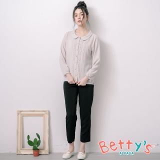 【betty's 貝蒂思】簡約率性素面長褲(黑色)