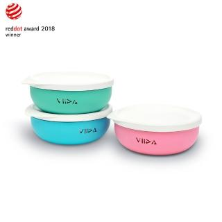 【VIIDA】Souffle抗菌不鏽鋼餐碗(台灣生產製造)