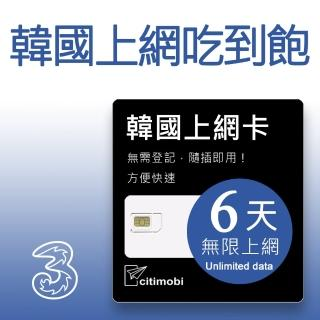 【citimobi】韓國上網卡 - 6天吃到飽(可熱點分享)