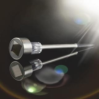 【Ainmax 艾買氏】光控太陽能草坪庭園燈 庭院防水景觀 插地燈(白色光  買就送PE手套50入)