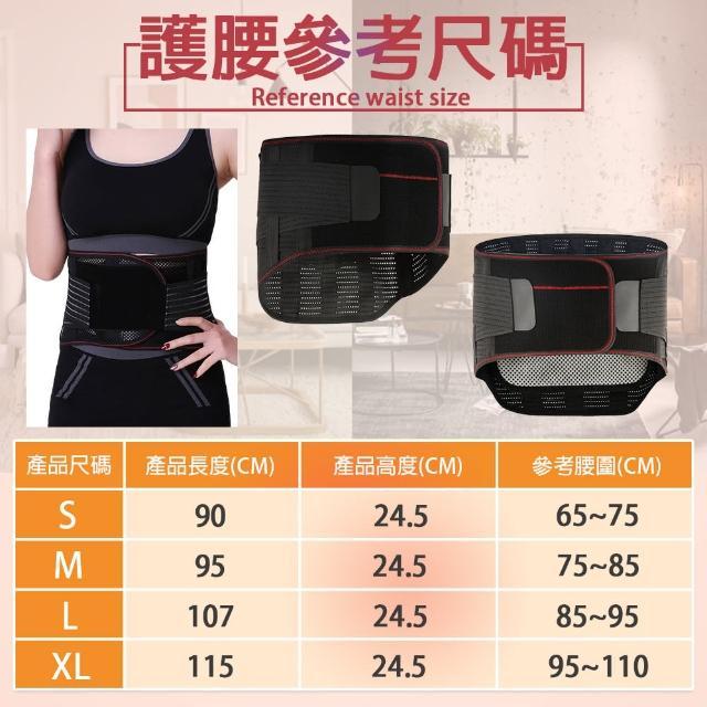 【TAS極限運動】三合一 多功能 鋼板護腰帶(多功能 鋼板 護腰帶 磁石 護腰 支撐 束腰 收腹)