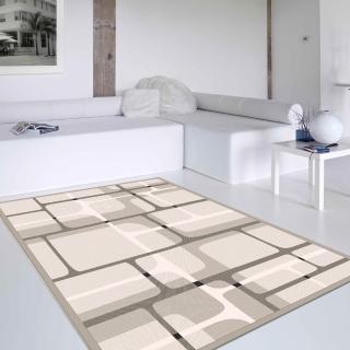 【范登伯格】花草集 簡約時尚絲質地毯(140x200cm)