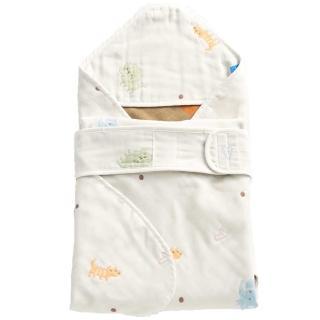 【les enphants】六層紗數字動物園 包巾