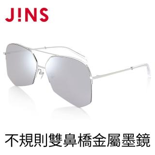 【JINS】不規則雙鼻橋金屬墨鏡(AMMN19S109)