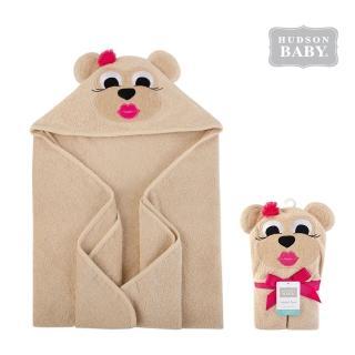 【Luvable Friends】嬰幼兒動物造型100%純棉連帽浴巾/包巾_高雅棕熊(LF57172)
