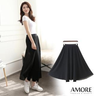 【Amore】夏日假兩件雪紡九分褲裙(氣質感激增UP)