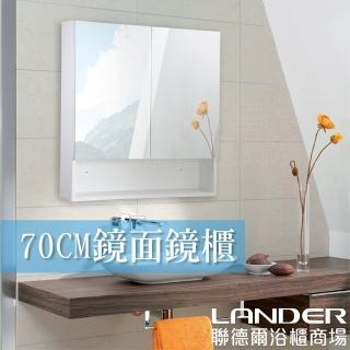 【聯德爾】雙門單面鏡櫃70公分(70x15x70cm 防水發泡板)