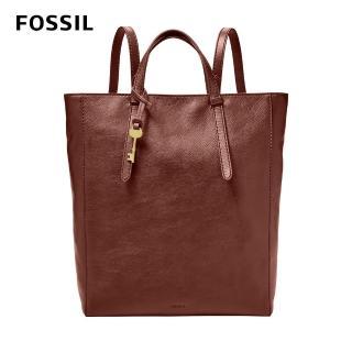 【FOSSIL】Camilla 真皮三用後背包-酒紅色 可置入13吋筆電 ZB7517227