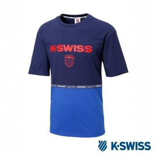【K-SWISS】印花短袖T恤 Soft Cool TShirt -男-藍(102974-400)