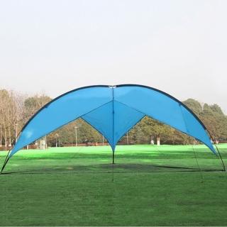 【PUSH!】戶外休閒用品露營沙灘遮陽防水三角天幕棚(P119藍色)