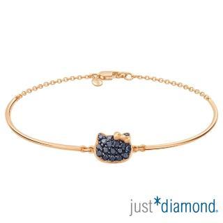 【Just Diamond】Hello Kitty黑鑽風潮18K玫瑰金系列 鑽石手鍊
