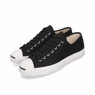 【CONVERSE】休閒鞋 Jack Purcell 低筒 男女鞋 經典款 開口笑 情侶鞋 簡約 穿搭 黑 白(164056C)